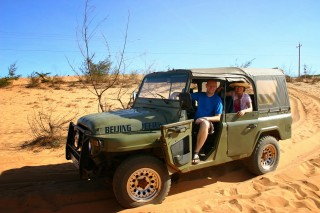 Jeep Car to Sand dune